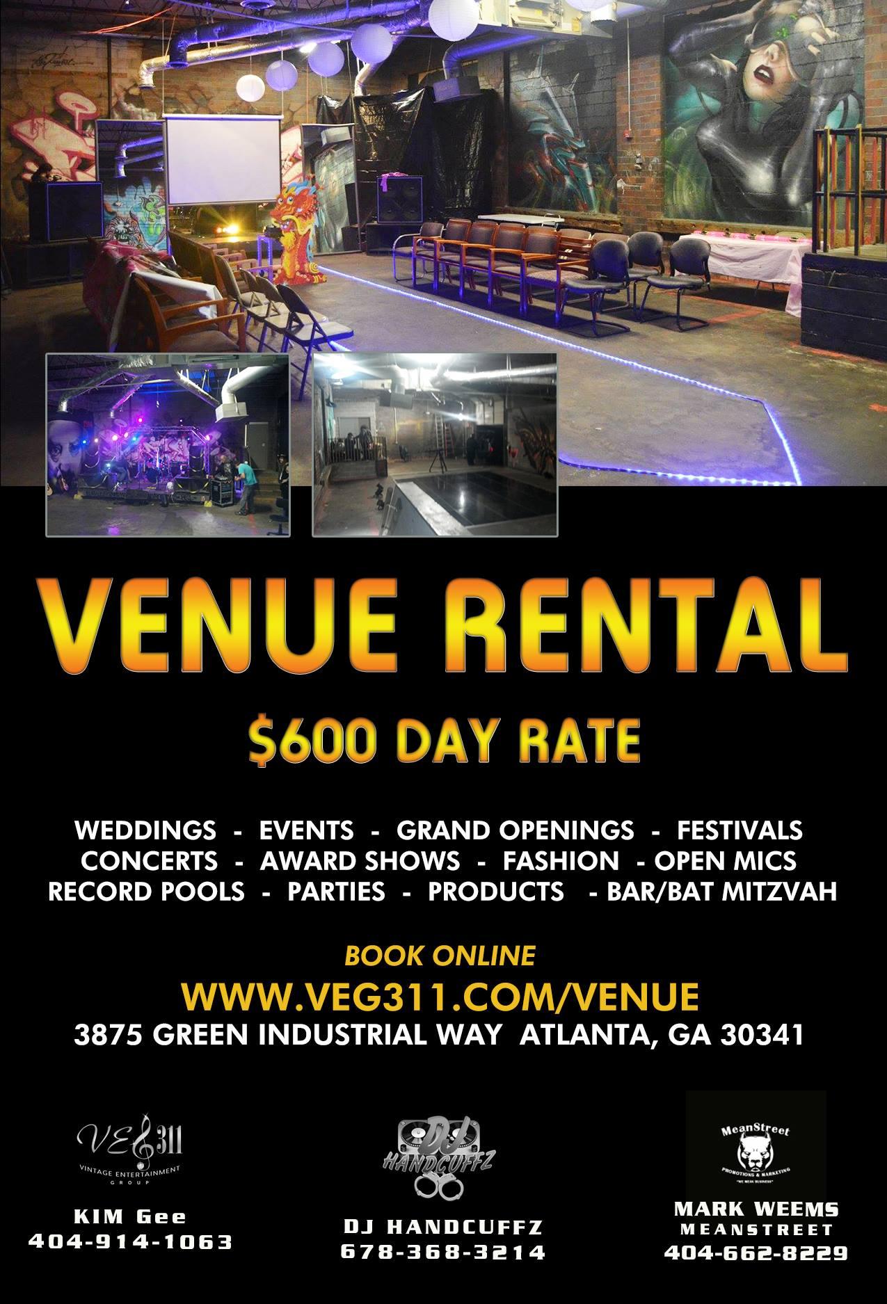 Cheap Atlanta Rental Venue