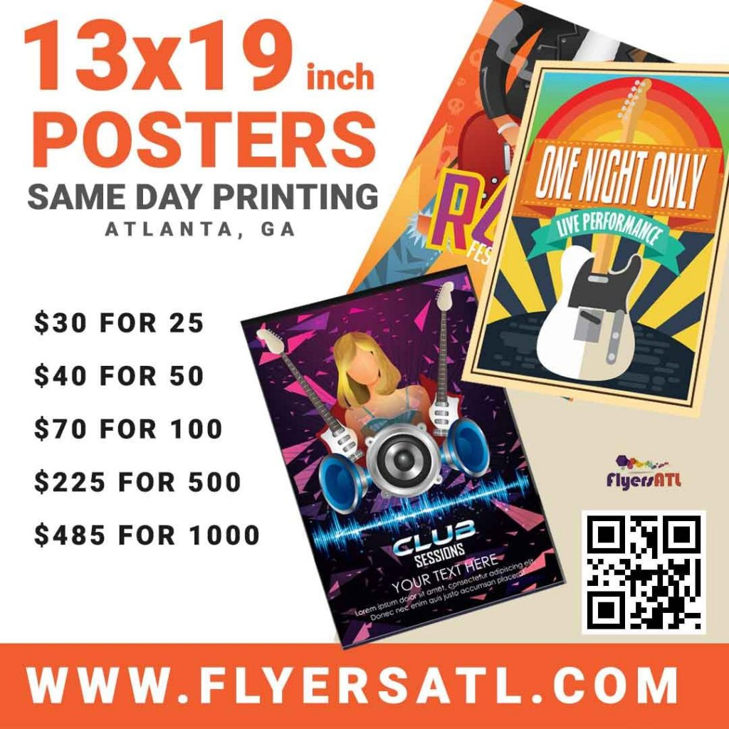 Atlanta Poster Printing 13x19